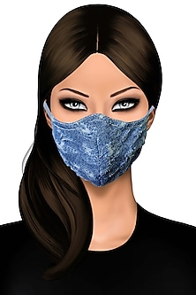 Blue Denim Distressed Mask by Gaya