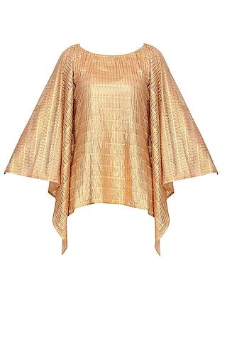 Gold Stripes Printed Kaftan Top by Gaaya by Gayatri Kilachand