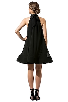 Black High Neck Dress by Gauri and Nainika