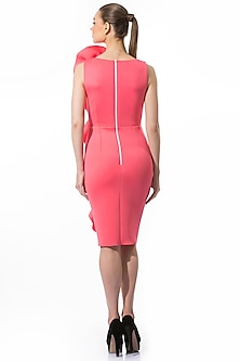 Candy Pink Pencil Dress by Gauri and Nainika