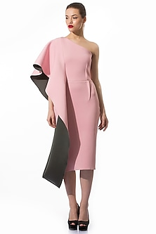 Light Pink Pencil Dress by Gauri and Nainika