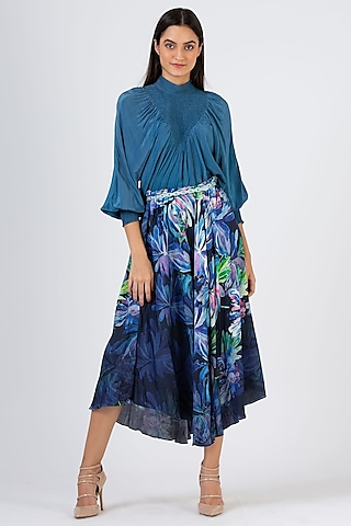 Blue Ombre Skirt by Geisha Designs