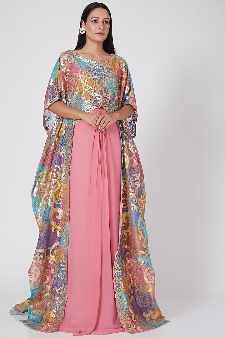 Fuchsia Kaftan Style Gown by Geisha Designs