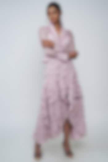 Blush Pink Ruffled Skirt Set by Geisha Designs