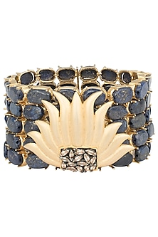 Gold Plated Flower Motif Bracelet by Gauri Himatsingka