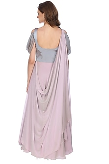 Mauve Indian Gown by Sounia Gohil