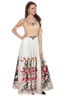 White Indian Gown by Sounia Gohil
