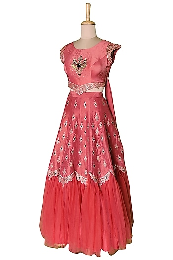 Red Lehenga Set by Sounia Gohil