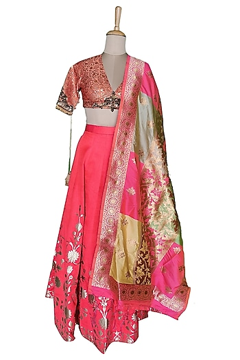 Pink Lehenga Set by Sounia Gohil