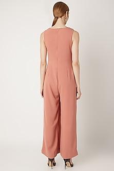 Blush Pink Draped Jumpsuit by Gunu Sahni