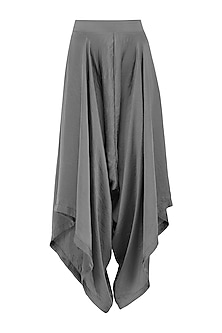 Grey Draped Pants by Gunu Sahni