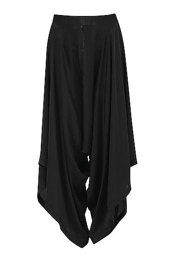 Black Draped Pants by Gunu Sahni
