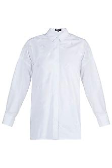 White Embellished Shirt by Gunu Sahni