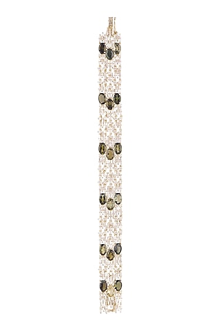14Kt Gold Diamond & Tourmaline Flexible Bracelet by Golden Gazelle Fine Jewellery