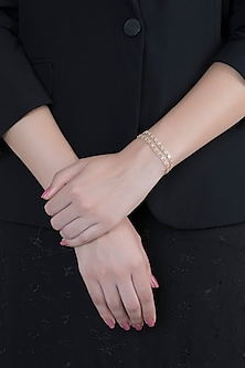 14Kt Gold Diamond Flexible Bracelet by Golden Gazelle Fine Jewellery