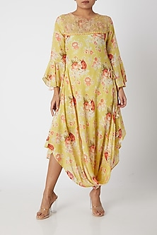 Yellow Full Sleeved Dress by GOPI VAID