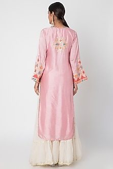 Blush Pink Embroidered Tunic by GOPI VAID