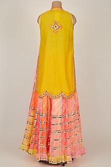 Yellow Embroidered Sharara Set by GOPI VAID