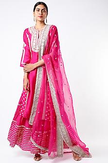 Fuchsia Embroidered Sharara Set by GOPI VAID-POPULAR PRODUCTS AT STORE