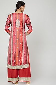 Red Embroidered Kurta Set by GOPI VAID
