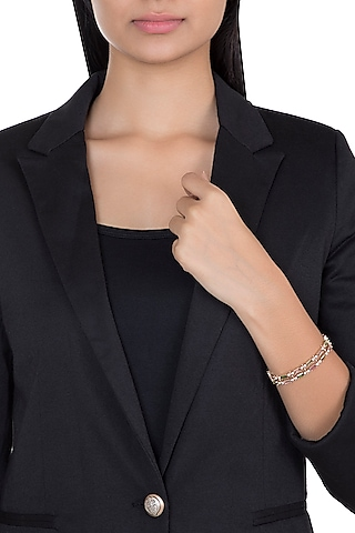 14Kt Gold Love Trip Tennis Diamond & Tourmalines Bracelet by Golden Gazelle Fine Jewellery