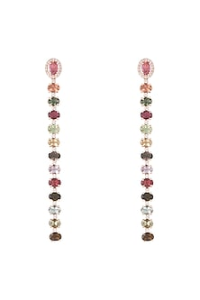 14Kt Gold Two Style Tourmaline & Diamond Dangler Earrings by Golden Gazelle Fine Jewellery