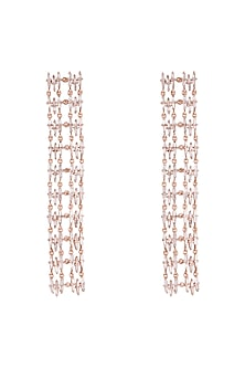 14Kt Rose Gold Cascading Sparkle Diamond Earrings by Golden Gazelle Fine Jewellery