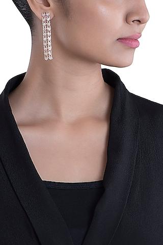 14Kt Rose Gold Cascading Sparkle Diamond Earrings by Golden Gazelle Fine Jewellery