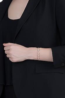 14Kt Rose Gold Star Lined Diamond Adjustable Bracelet by Golden Gazelle Fine Jewellery