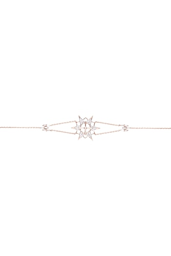 14Kt Rose Gold Light Star Diamond Bracelet by Golden Gazelle Fine Jewellery