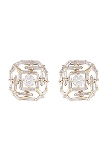 14Kt Gold Solitary Star Diamond Earrings by Golden Gazelle Fine Jewellery