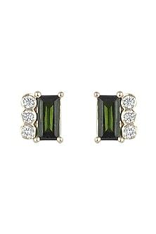 14Kt Gold Mismatched Tourmaline Stud Earrings by Golden Gazelle Fine Jewellery