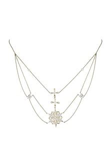 14Kt Gold Supernova Diamond Choker Necklace by Golden Gazelle Fine Jewellery