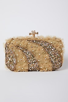 Marigold Embroidered Clutch by GRANDEUR