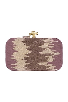 Purple Shaded Embroidered Clutch by GRANDEUR