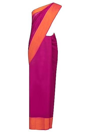 "Kokum Pink Dual Toned Resham Embroidered ""Shringar"" Saree by 1921"