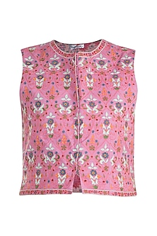 Pink Embroidered Jacket by Gazal Mishra