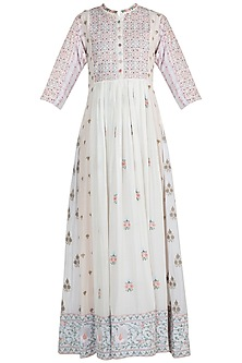 Multi Colored Thread Embroidered Dress by Gazal Mishra