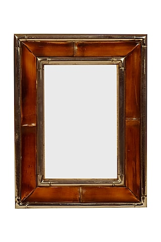 Brown Bamboo Photo Frame by Happier Homes