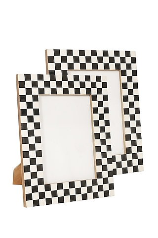 Resin White Photo Frame by Happier Homes