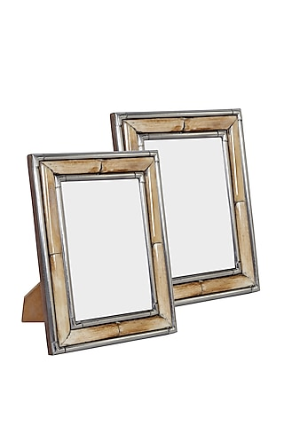 Brown Photo Frame In Bamboo by Happier Homes