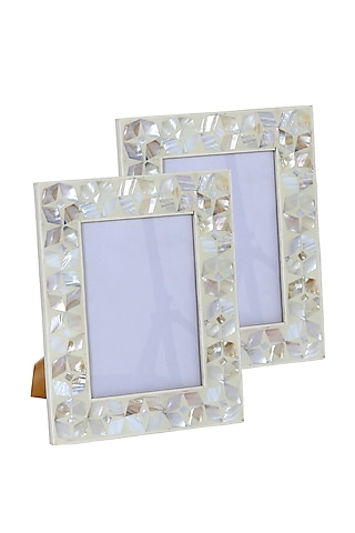 MDF White Photo Frame by Happier Homes
