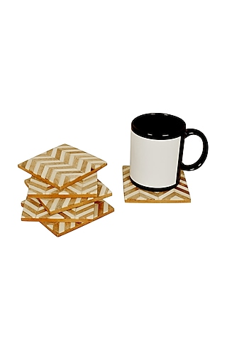 Brown Resin Coasters by Happier Homes