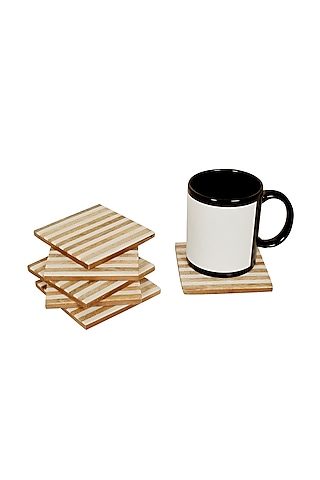 White Resin Coasters by Happier Homes