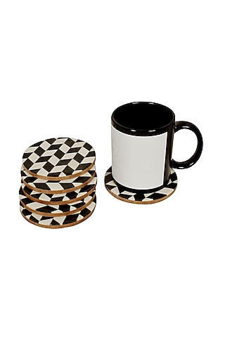 White MDF Coasters by Happier Homes