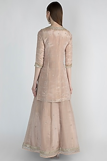 Blush Pink Embroidered Lehenga Set by Himani And Anjali Shah