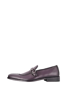 Purple Hand Painted Loafer Shoes by Harper Woods