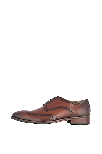 Senia Hand Painted Derby Shoes by Harper Woods
