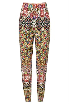 Multicolor Janpath Print Pants by Hemant and Nandita
