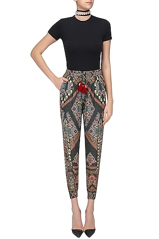 Wild Grey Printed Pants by Hemant and Nandita